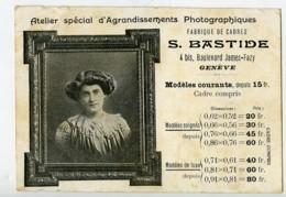 Suisse Geneve Carte Postale Publicitaire Photographe Bastide 1909 - Illustrators & Photographers