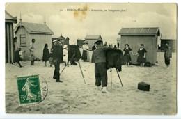 France Berck Plage Cabines Carte Postale Photographes Au Travail 1900 - Illustrators & Photographers