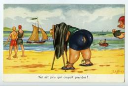 France Carte Postale Humoristique Photographe A La Plage Raffray 1950 - Künstlerkarten