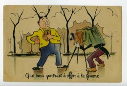 France Carte Postale Humoristique Photographe Et Modele 1920 - Illustrators & Photographers