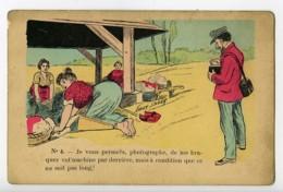 France Carte Postale Humoristique Photographe & Lavandieres 1900 Xavier Sager - Illustrators & Photographers
