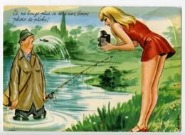 France Carte Postale Humoristique Photographe Sexy & Pecheur Trempe 1950 - Illustrators & Photographers