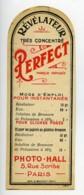 France Etiquette Revelateur Perfect Produits Photographique Photo Hall 1880 - Unclassified