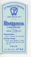 Etiquette Revelateur Concentre Produits Photographique Photo Le Printemps 1900 - Unclassified