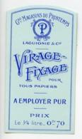 Etiquette Virage-Fixage Laguionie Produits Photographique Photo Le Printemps 1880 - Old Paper