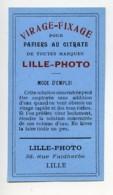 France Lille Etiquette Virage Fixage Citrate Produits Photographique Lille Photo 1900 - Old Paper