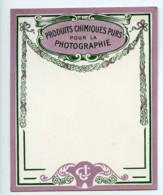 France Etiquette Vierge Produits Photographique Photo CJ 1900 - Old Paper