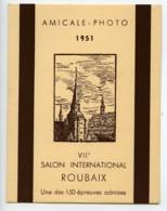 France Roubaix Etiquette VIIe Salon Photographique International 1951 - Old Paper