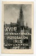 Belgique Anvers Etiquette XVIe Salon Photographique International 1949 - Unclassified