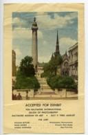 USA Baltimore Etiquette Salon Photographique International 1954 - Old Paper