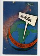USA Rochester Etiquette Capitale Internationale De La Photographique 1953 - Old Paper