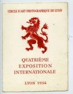 France Lyon Etiquette 4e Salon Photographique International 1954 - Old Paper
