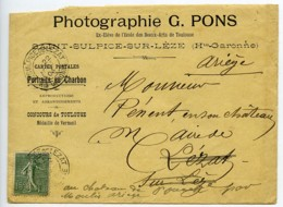 France Toulouse Courrier Du Photographe G. Pons Au Maire De Lezat Sur Leze 1904 - Old Paper