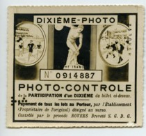 France Billet De Loterie Lottery Ticket Photo Contrôle Rovers 1930 - Lottery Tickets
