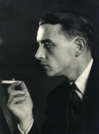 France Paris Photographe Andre Rossignol Fumant Autoportrait Ancienne Photo 1940 - Professions