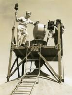 USA WWII Photographe Cineaste Base Militaire Ancienne Photo 1940's - War, Military