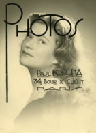 France Carton Photo Publicitaire Pour Le Photographe Paul Koruna Vers 1930's - Professions