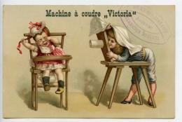 France Machine à Coudre Victoria Chromo Publicitaire Photographe Andenne 1890 - Old Paper