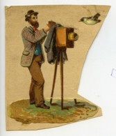 France Decoupi Chromo Photographe Et Oiseau 1890 - Old Paper