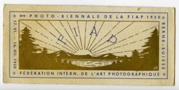 Suisse Berne Etiquette Ier Salon Photographique Photo Biennale FIAP 1950 - Old Paper