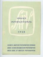 Suisse Etiquette SAPV Salon Photographes Amateurs 1950 - Old Paper