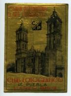 Mexique Puebla Etiquette Du 1er Salon International D'Arts Photographiques 1954 - Old Paper