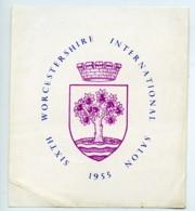 UK Worcestershire Etiquette Vie Salon Photographique International 1955 - Old Paper