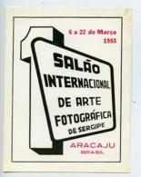 Bresil Aracaju Etiquette Ier Salon International D'Arts Photographiques 1955 - Old Paper
