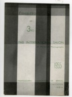 Inde Calcutta Etiquette IIIe Salon Photographique Pictorialiste International 1955 - Old Paper