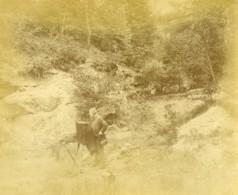 France Le Tréport Photographe Et Son Appareil Photographie Ancienne Photo 1890 - Photographs