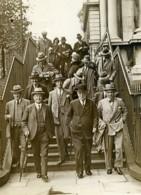 Londres Downing Street Groupe De Ministres Et Photographes Ancienne Photo 1930 - Professions