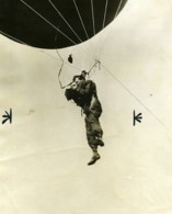 USA Photographe Suspendu A Un Ballon Captif Ancienne Photo 1928 - Professions