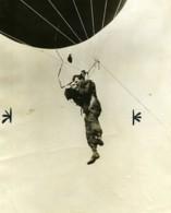 USA Photographe Suspendu A Un Ballon Captif Ancienne Photo 1928 - Beroepen
