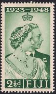 Fiji 1948 KGV1 2 1/2d Green Royal Silver Wedding MM SG 270 ( J1228 ) - Fiji (...-1970)