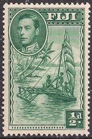 Fiji 1938 - 55 KGV1 1/2d Green Umm SG 249 ( J1214 ) - Fiji (...-1970)