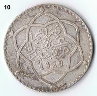 Morocco , Maroc , Marokko 1 Riyal 1329 AH Paris Silber Münze Coin / 10 - Marokko
