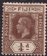 Fiji 1912 - 23 KGV 1/4d Deep Brown MM SG 125 ( J1246 ) - Fiji (...-1970)