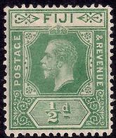 Fiji 1912 - 23 KGV 1/2d Green MM SG 126 ( J1242 ) - Fiji (...-1970)