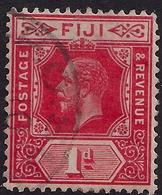Fiji 1912 - 23 KGV 1d Carmine SG 127 ( J1247 ) - Fiji (...-1970)