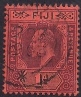 Fiji 1903 KEV11 1d Dull Purple & Black Red  SG 105 ( J1245 ) - Fiji (...-1970)