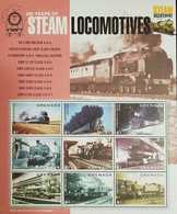 L)2014 GRENADA, 200 YEARS OF STEAM LOCOMOTIVES, TRAINS, PINK, MNH - Grenada (1974-...)