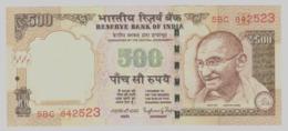 India 500 Rupie Rupee 2015 Signature Rajan - UNC FDS - Letter E - India