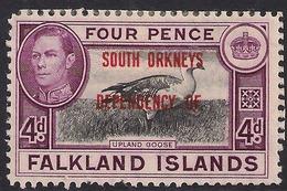 Falkland Island 1944 - 45 KGV1 4d Dependencies South Orkney MM SG C5 ( K1337 ) - Falkland Islands