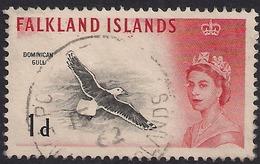 Falkland Island 1960 - 66 QE2 1d Black Backed Gull SG 194 ( K1340 ) - Falkland Islands