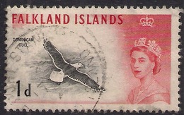 Falkland Island 1960 - 66 QE2 1d Black Backed Gull SG 194 ( K1341 ) - Falkland Islands