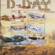 L) 2004 LIBERIA, AIRCRAFT, AIRPLANE, SOLDIERS, WAR, MNH - Liberia