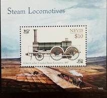 L) 2014 NEVIS, TRAINS, STEAM LOCOMOTIVES, 10C, MNH - Stamps