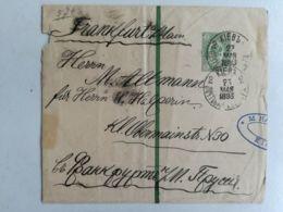 Old Cover Postal Stationery Russia Empire From Kiev Ukraine Sent To Frankfurt /Main Prussia On 1893 - Briefe U. Dokumente