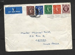 Great Britain, EIIR, Cover, 1s4d, INVERNESS 30 AU 54 > S.Africa, - 1952-.... (Elizabeth II)
