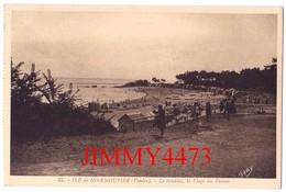 CPA - Le Remblai, La Plage Des Dames - ILE DE NOIRMOUTIER 85 Vendée - N°35 - Edit. Gaby - G. Artaud Nantes - Ile De Noirmoutier